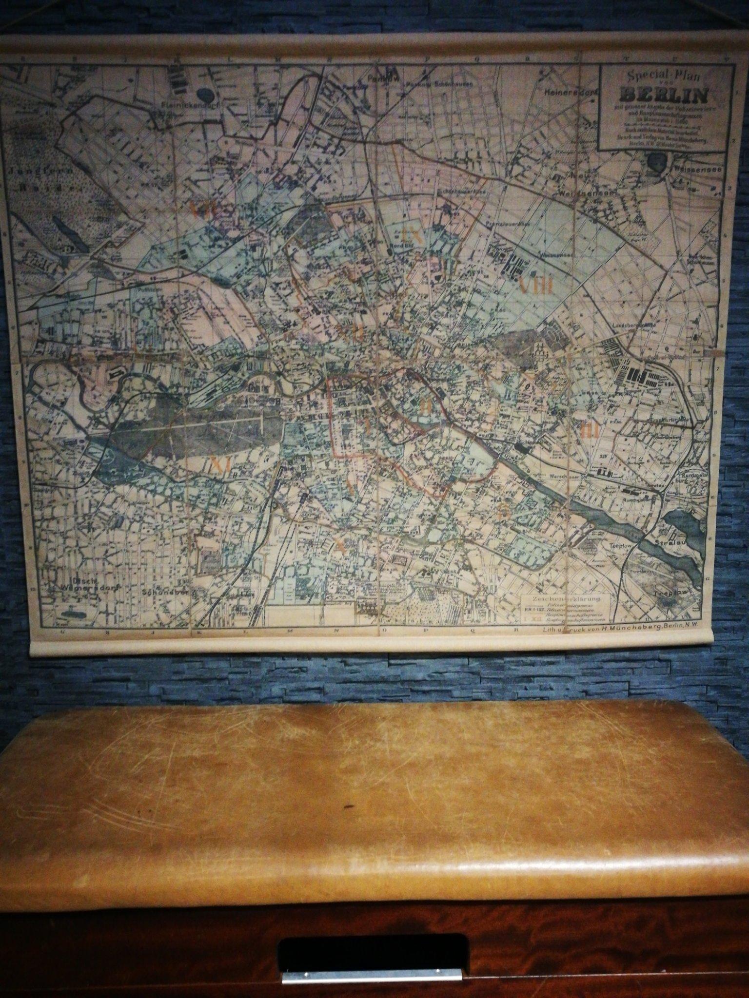 Wandkaart Berlijn 00050