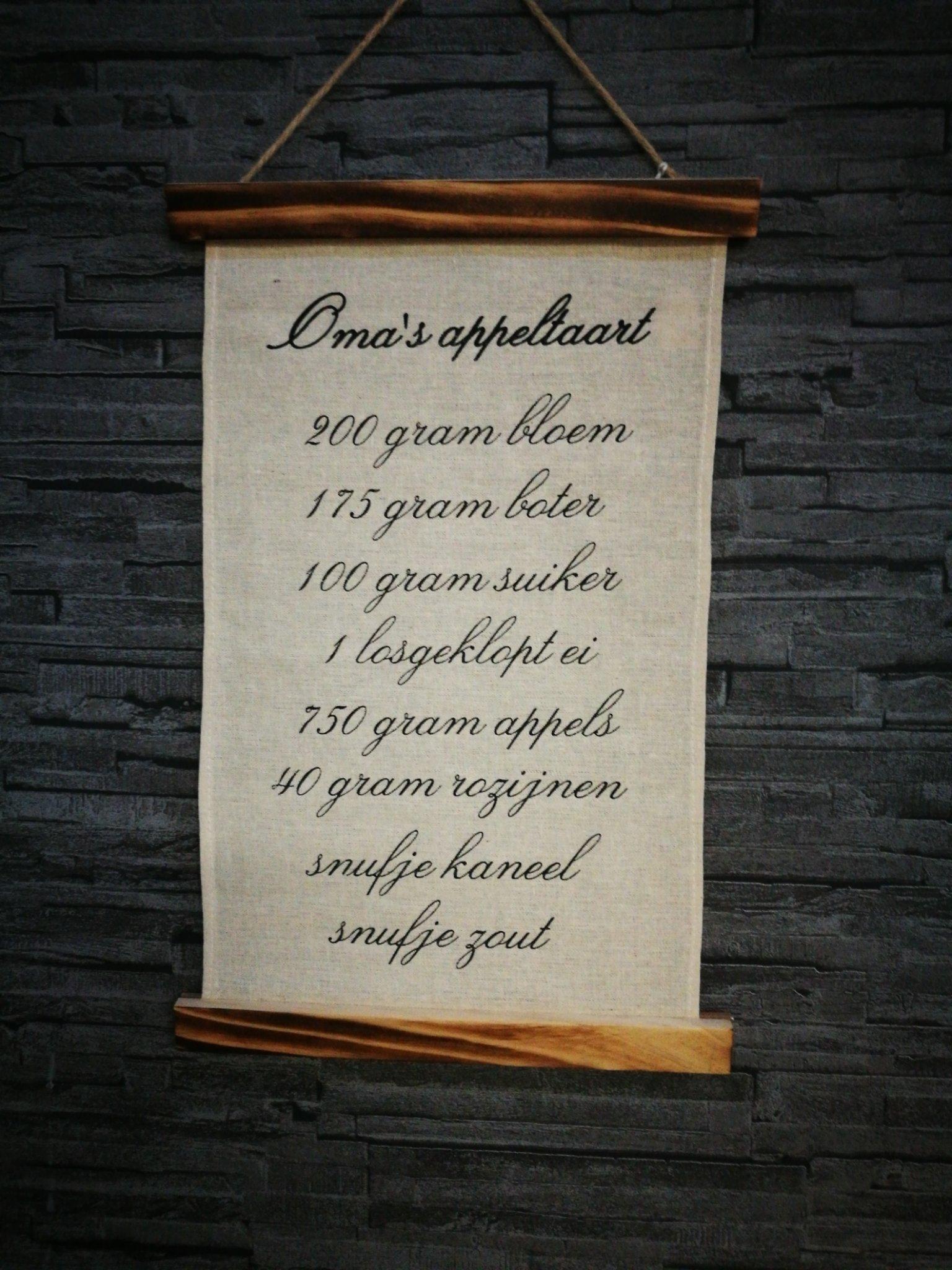 Wandkaart Appeltaart 00051