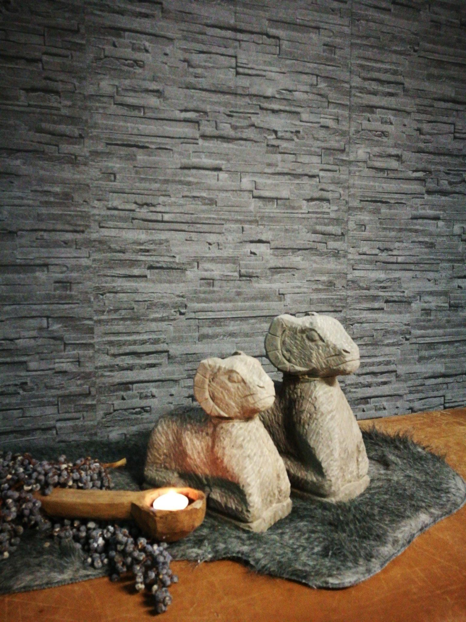 Stenen ram groot