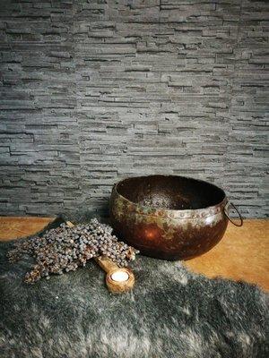 Metalen halve waterkruik