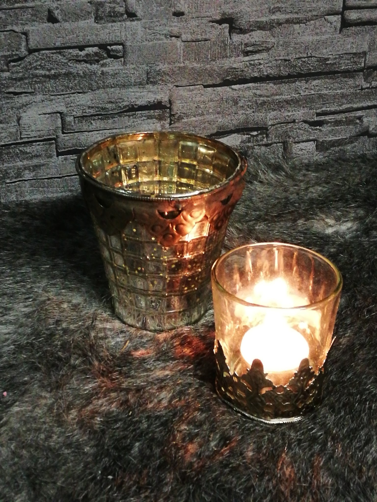 Waxinelichthouder Armeluis zilver 00480