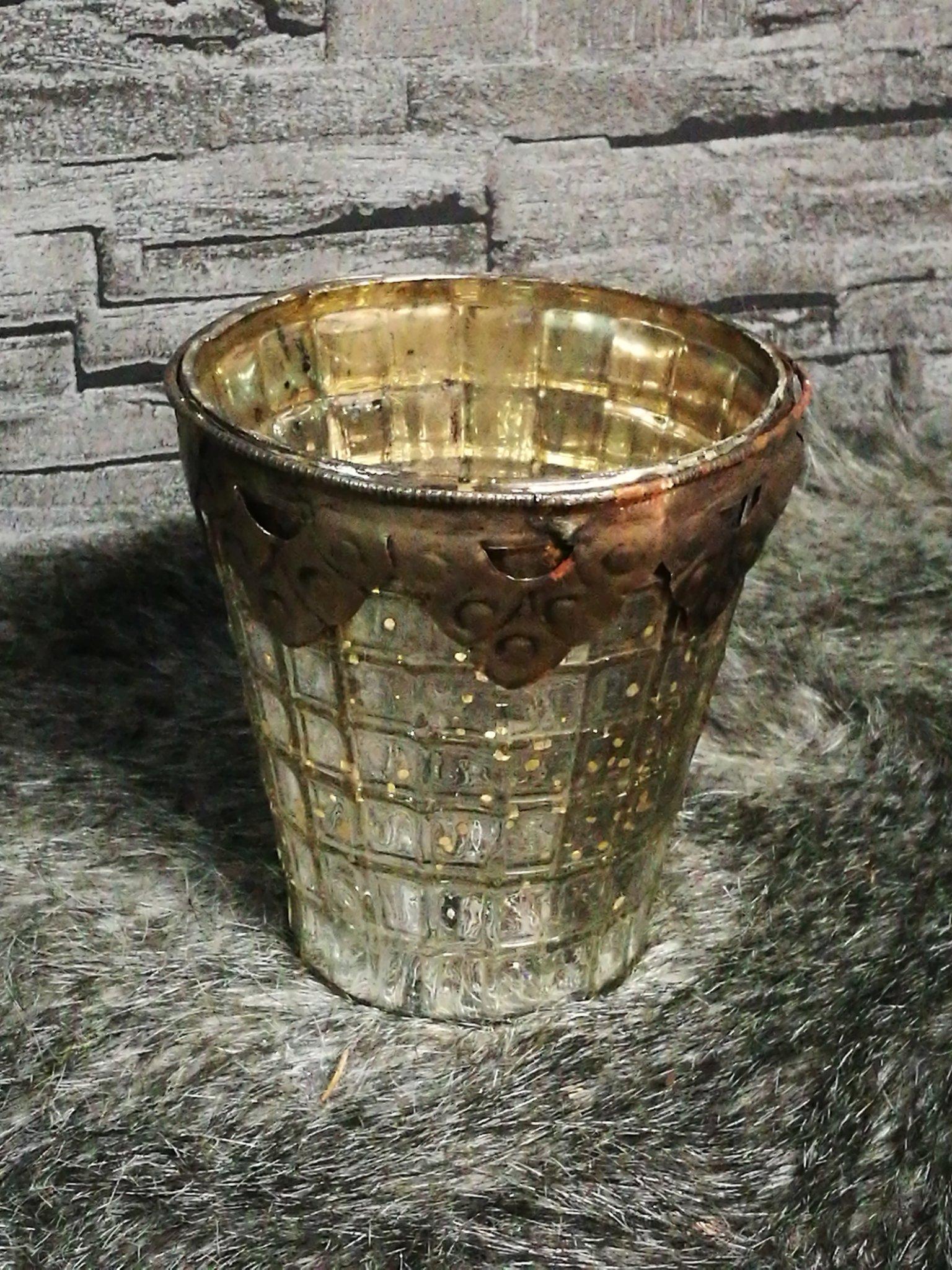 Waxinelichthouder Armeluis zilver