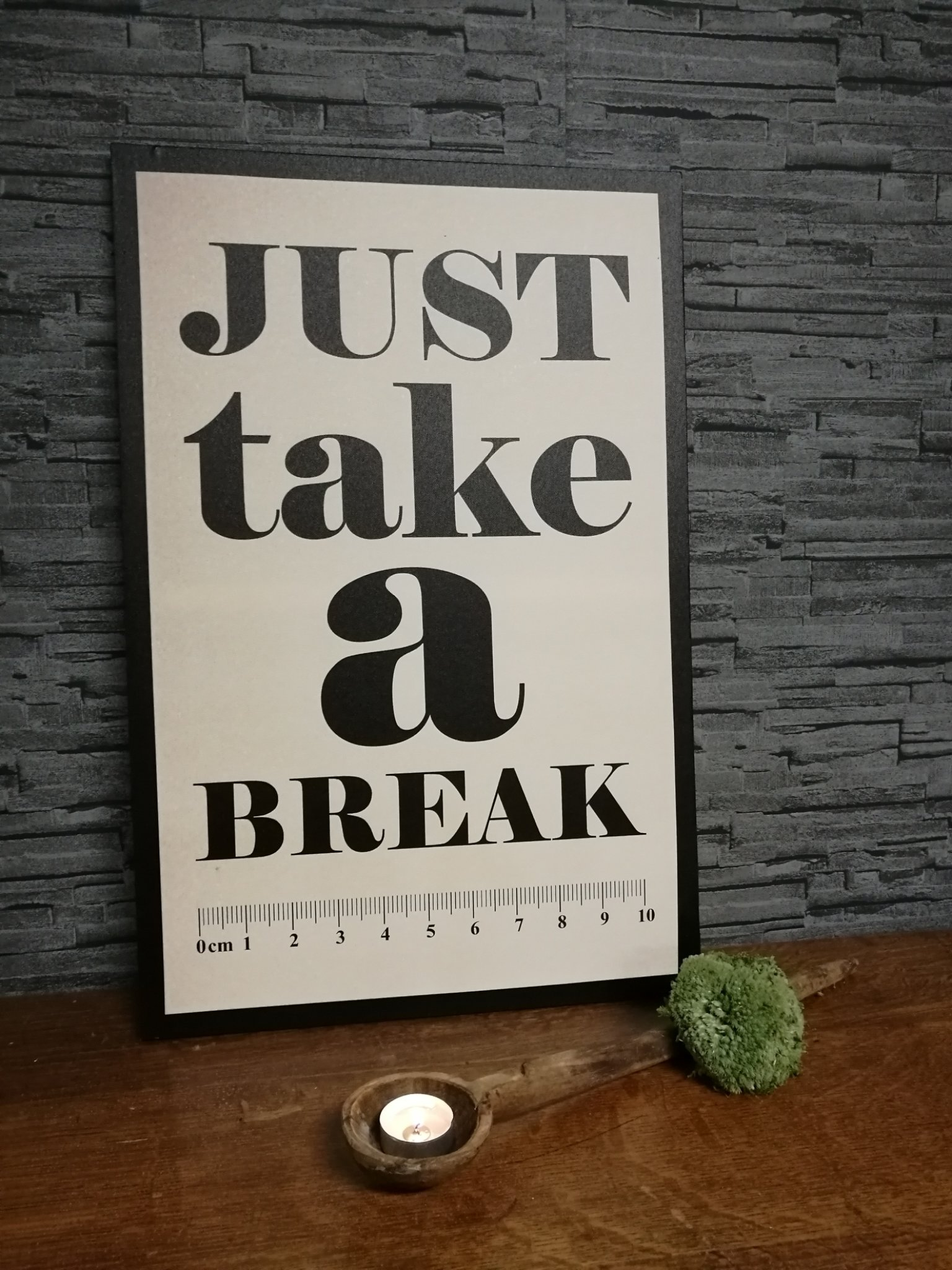 "Tekstbord ""break"" 00643"