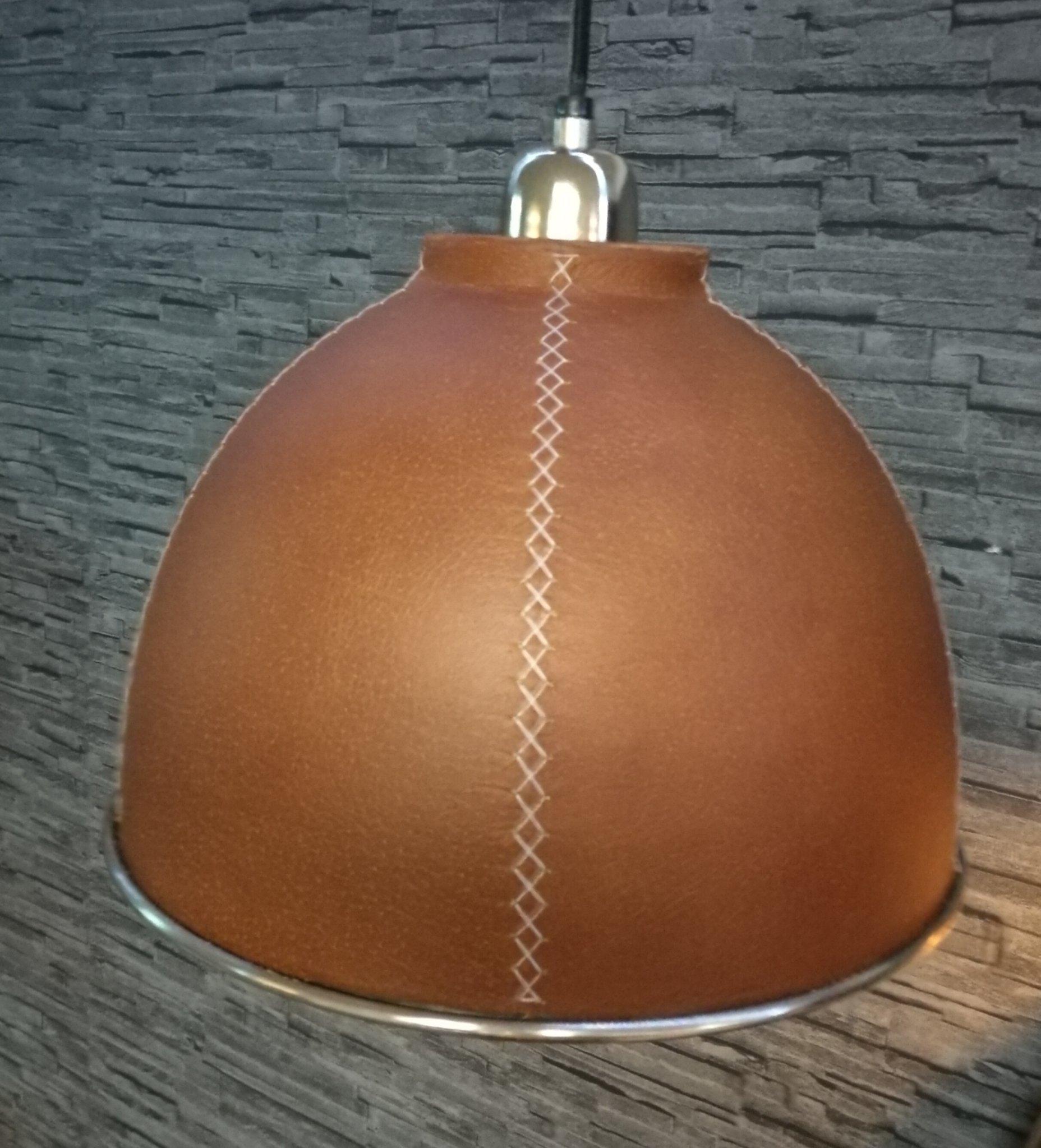 Lederen hanglamp Baseball 00756