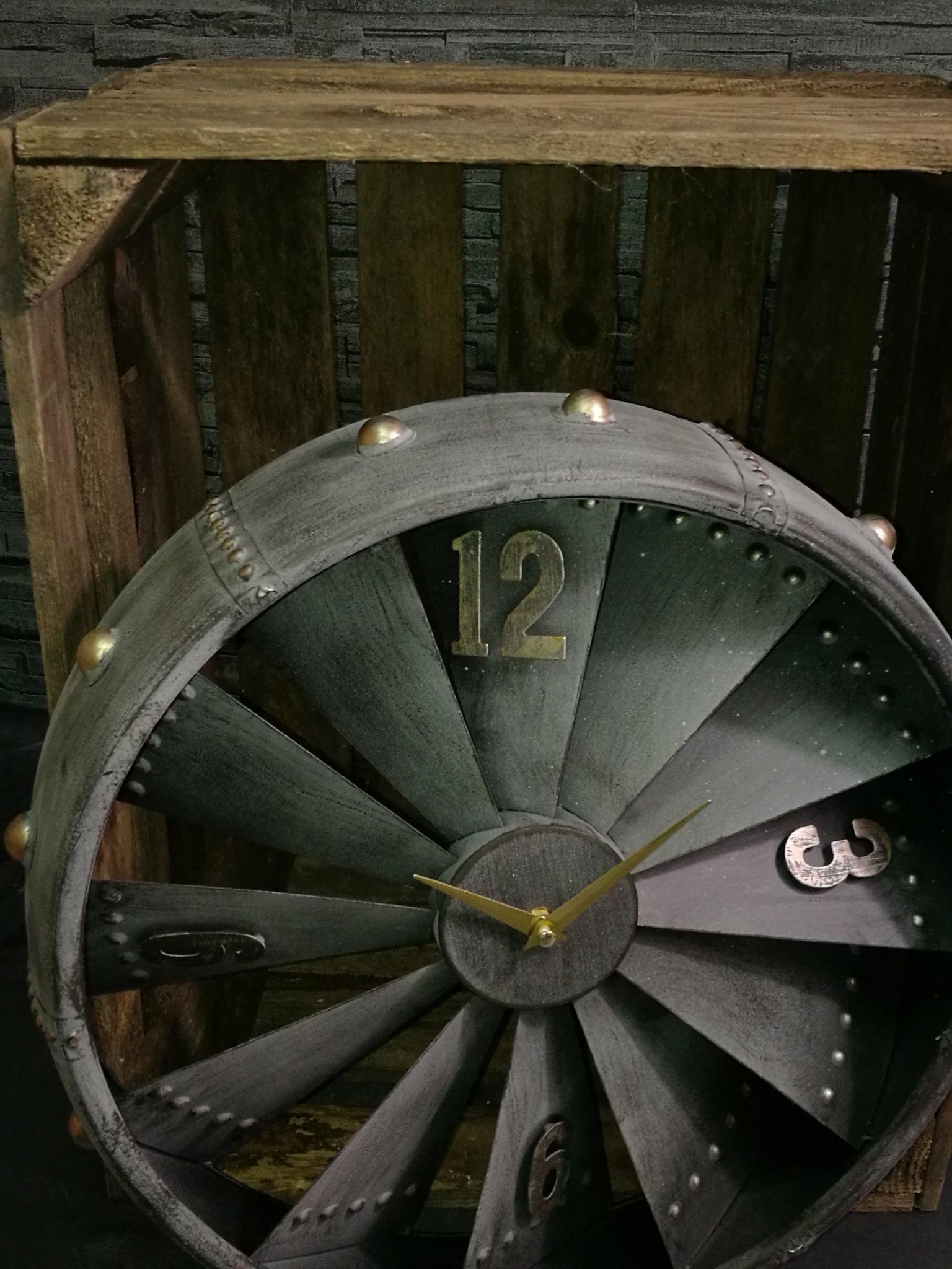 Wandklok vliegtuigmotor