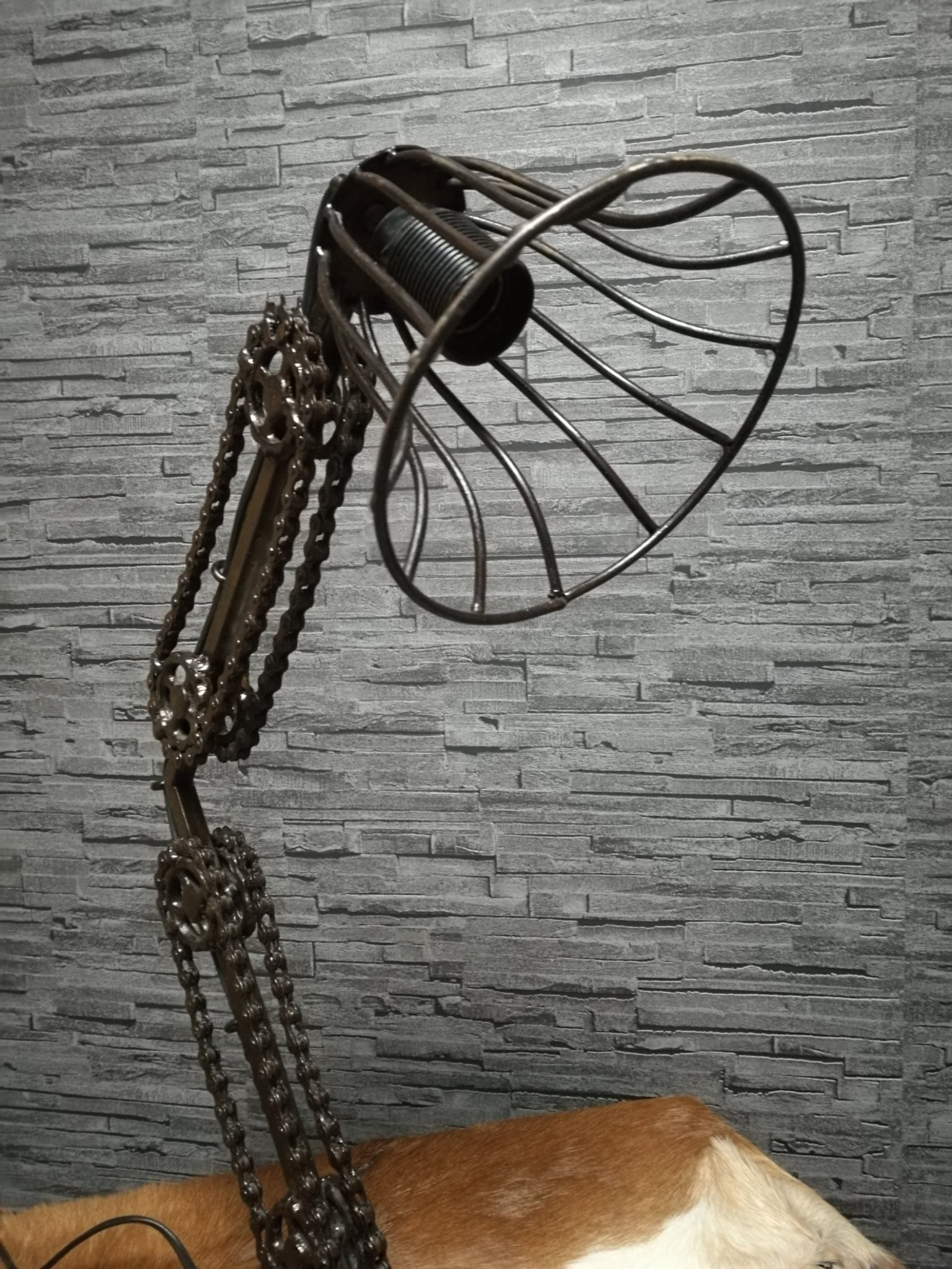 Fietsketting lamp ijzer