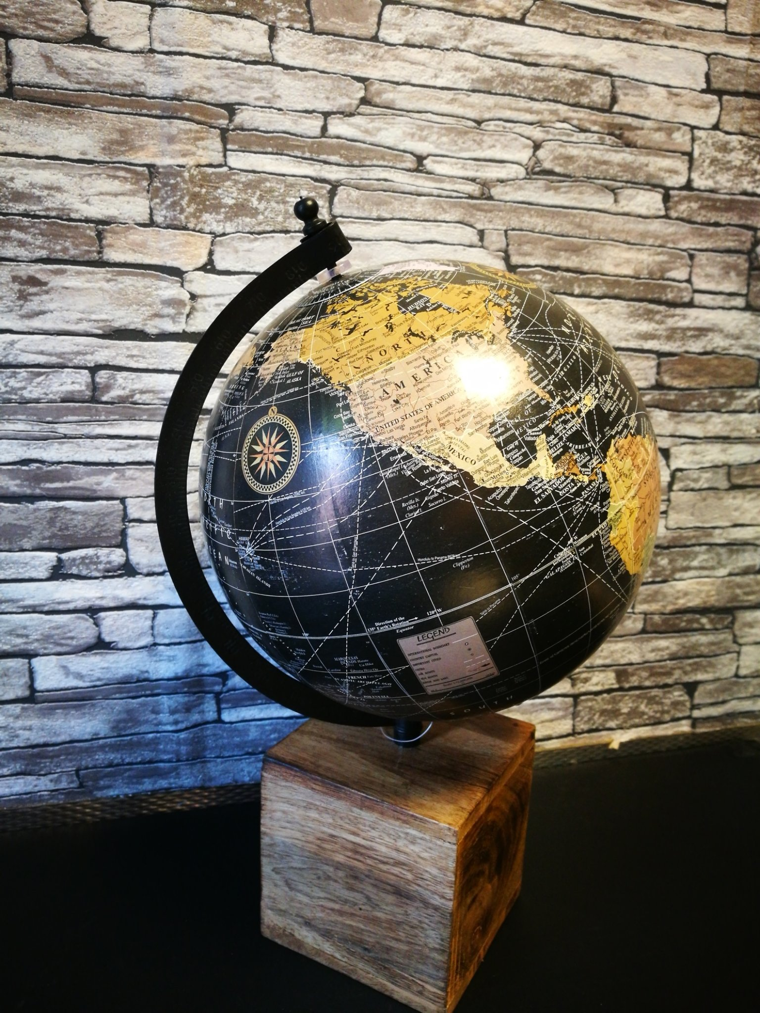 Wereldbol op blok