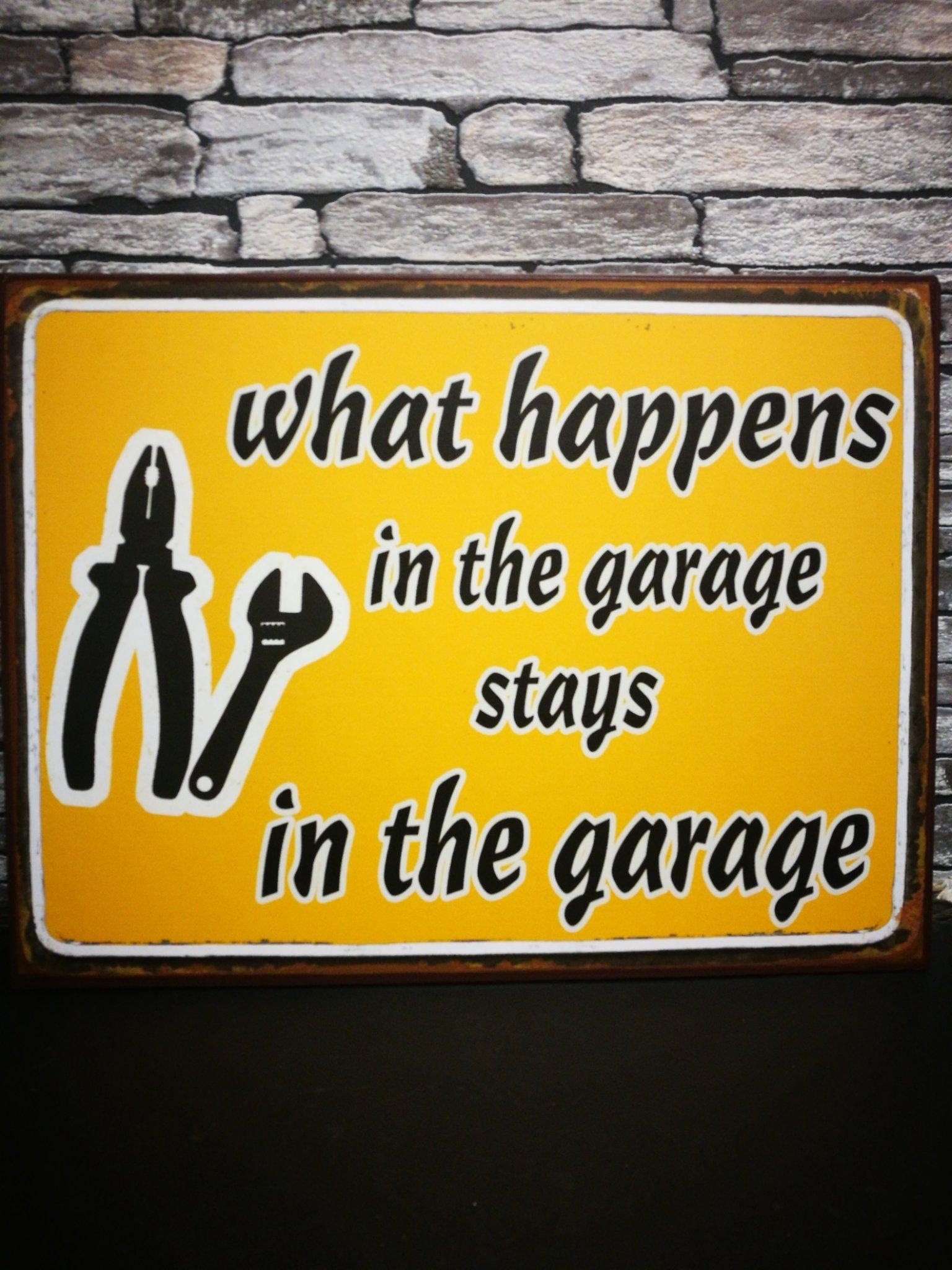 Metalen tekstbord Garage 01120
