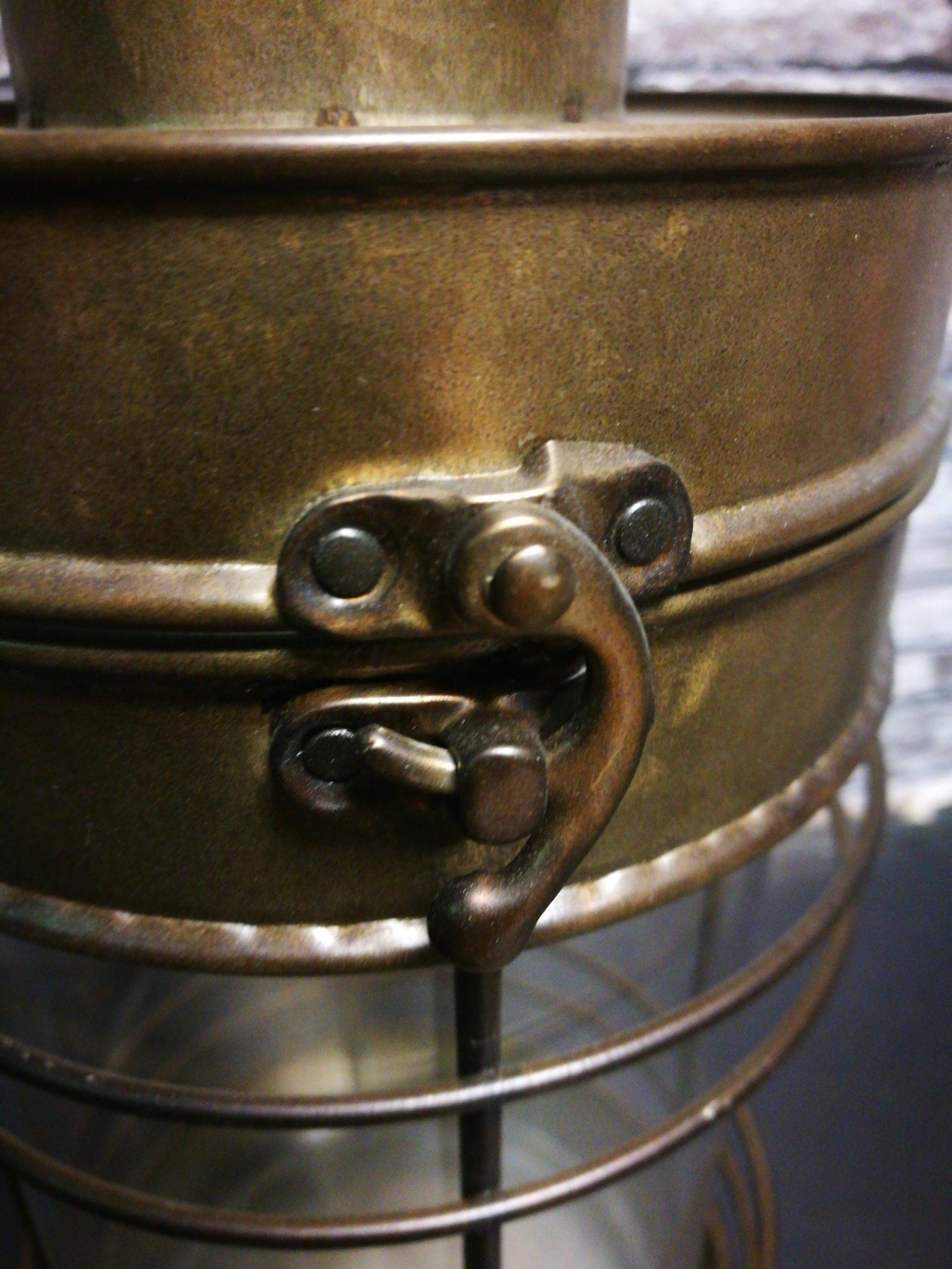 Lantaarn antiek zink M