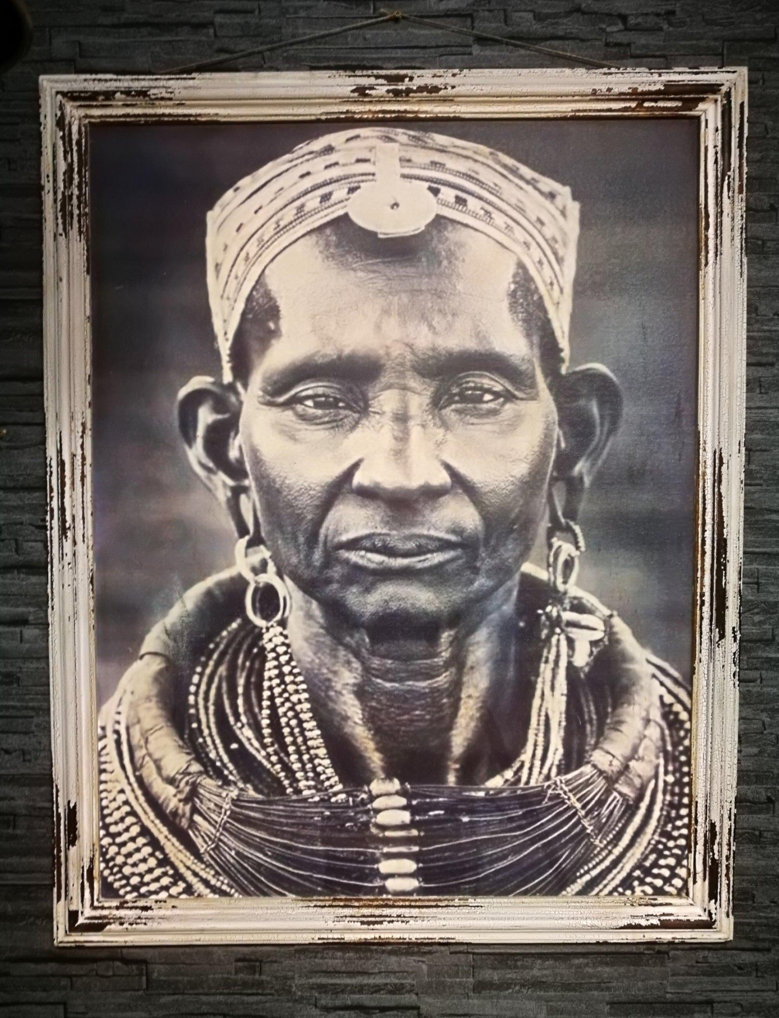 Schilderij Massai man 01141