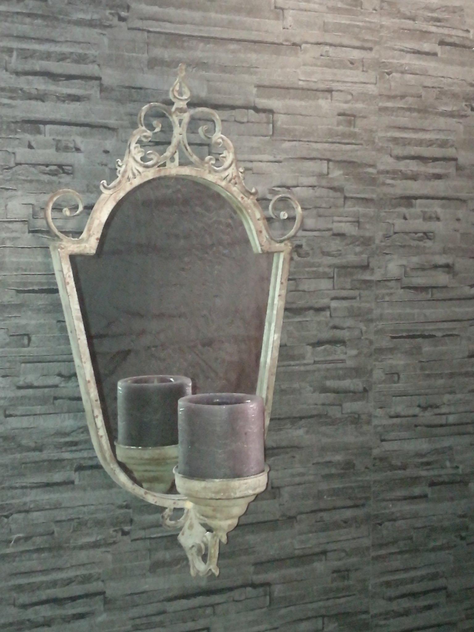 Spiegel met kandelaar 01183