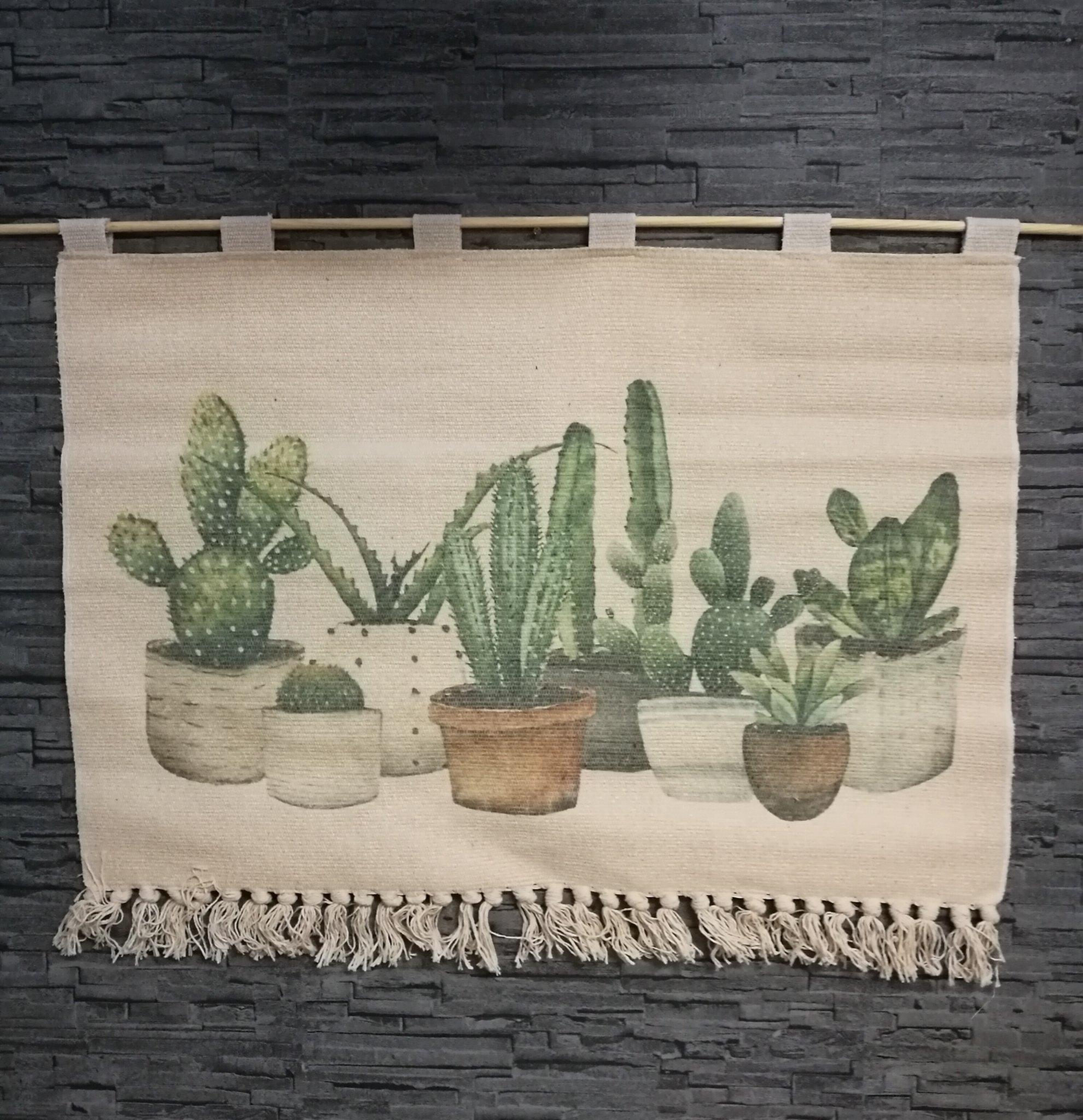 Wanddecoratie cactus 90*60cm 01238