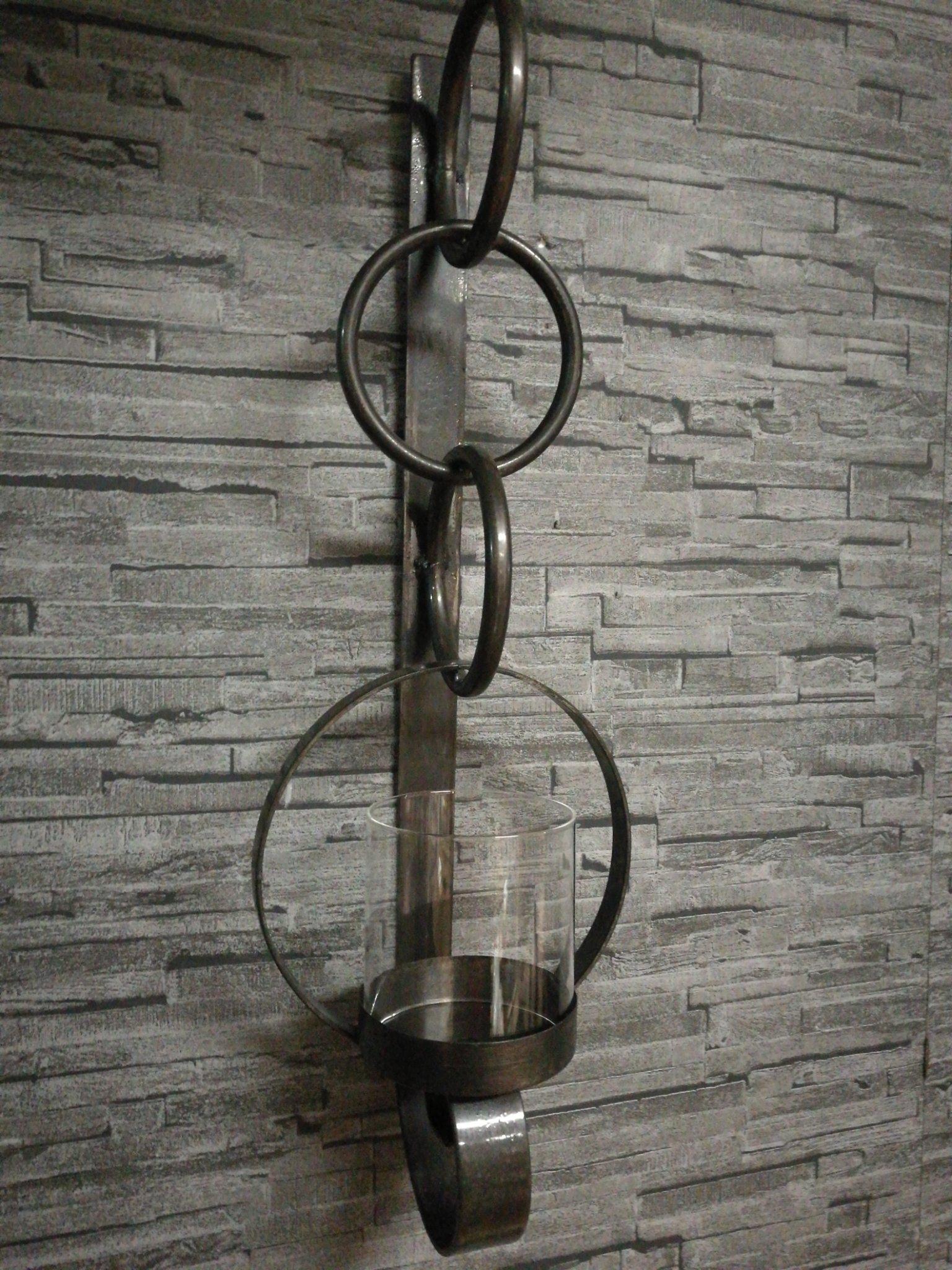 Metalen wandkandelaar cirkel