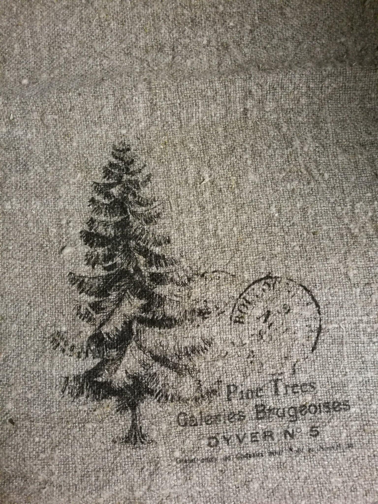 Shabby doek kerstboom 30x45 01425