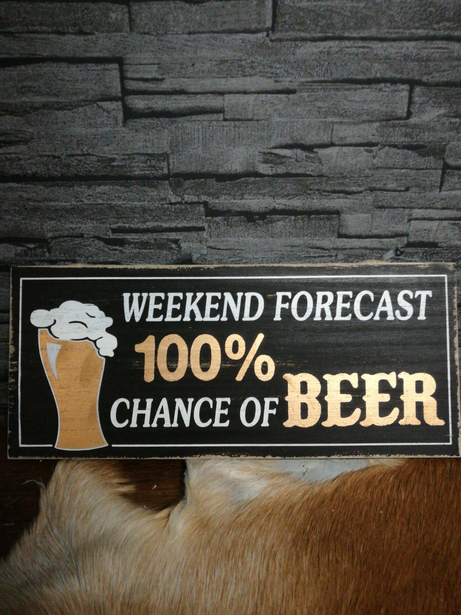 Tekstbord weekend beer 01481