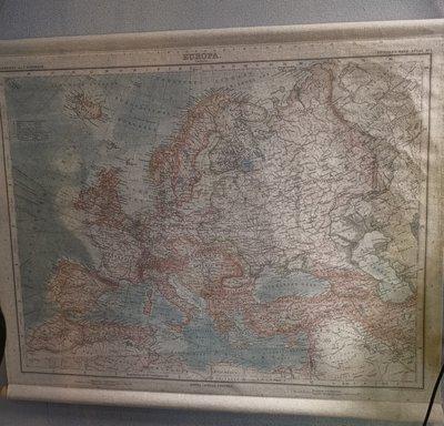 Wandkaart europa