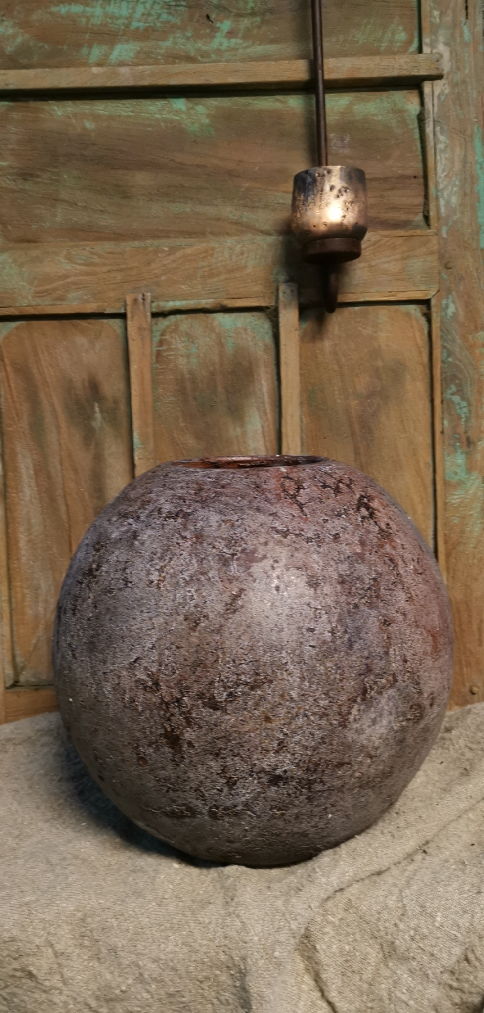 Pot rond oud bruin 01722