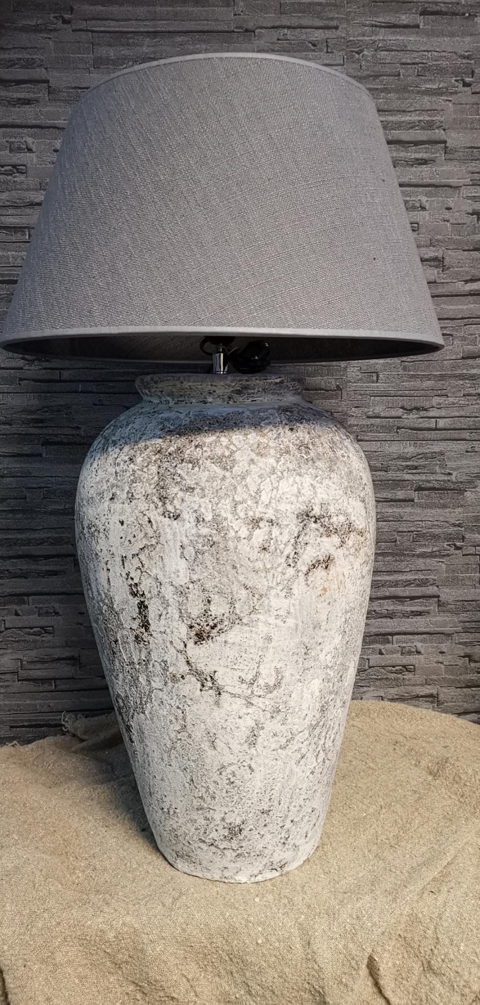 Tafellamp voet hoog crème  01748