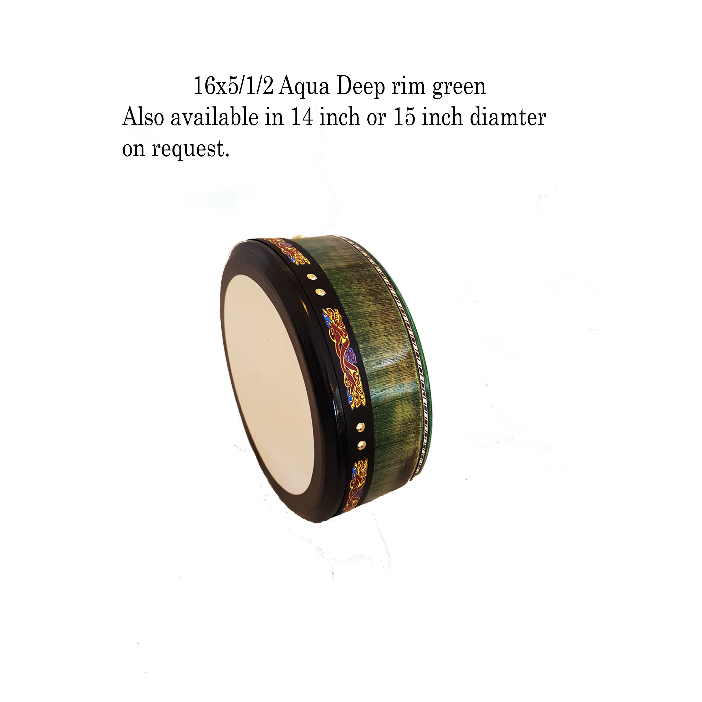 16 x 5/1/2 Aqua Green Hand Tuneable 16 Inch Aqua Grn