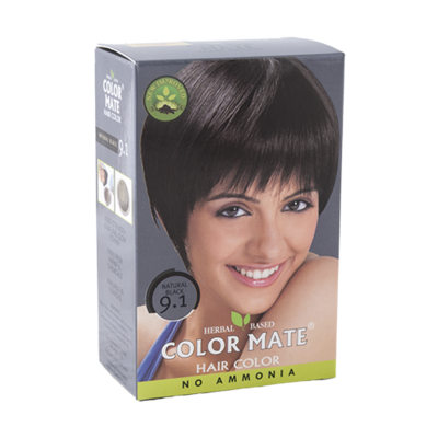 Краска для волос Color Mate Hair Color (тон 9.1, натуральный чёрный)