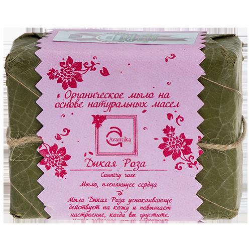 Органическое мыло на основе натуральных масел Дикая Роза Avantika Country Rose