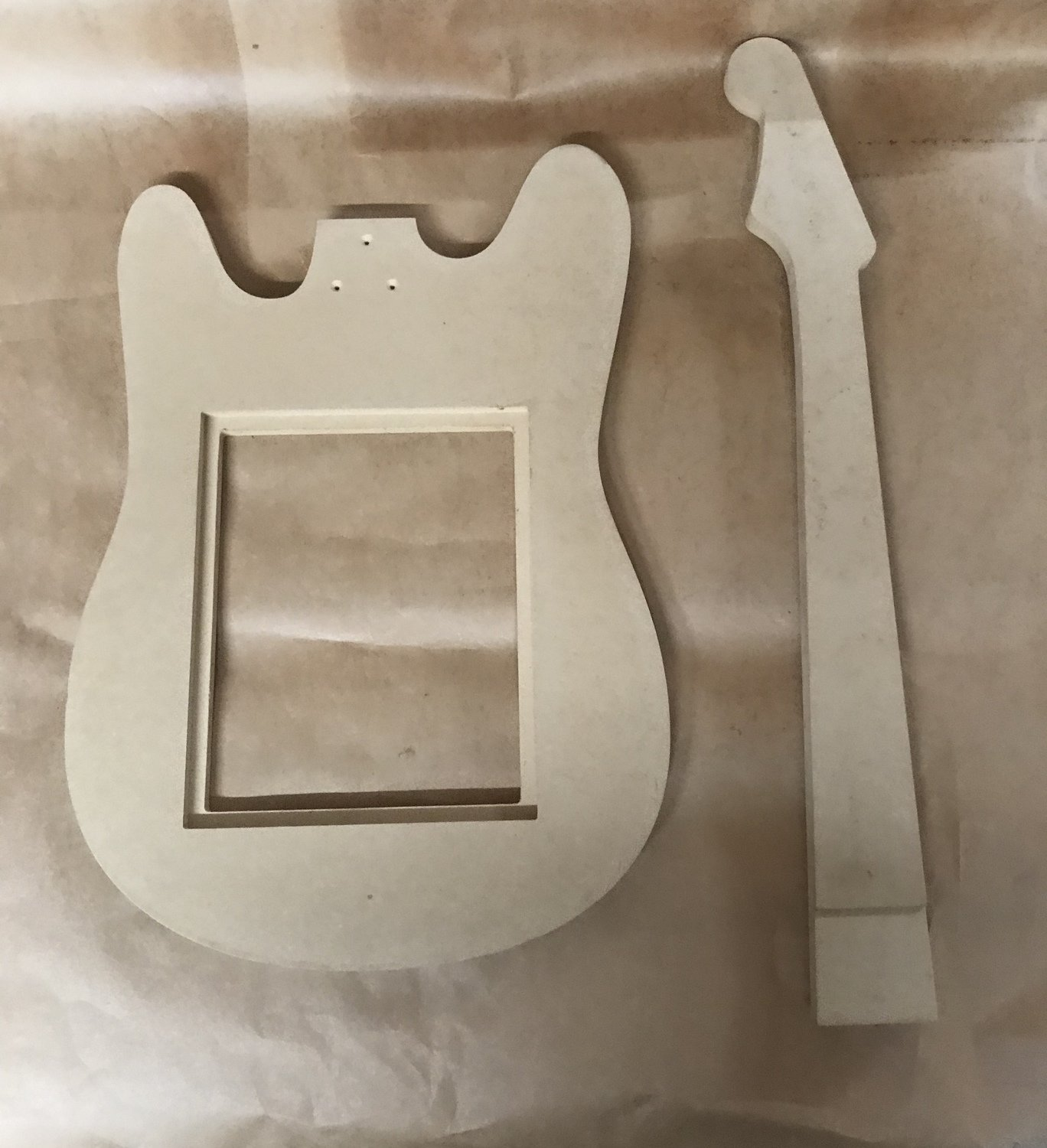 Rock Guitar Not Painted Fits 8x10