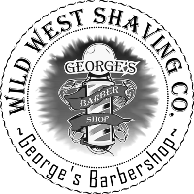 George's Barbershop Shaving Soap - Smokey Leather, Neroli, Vanilla, Black Pepper, Bergamot