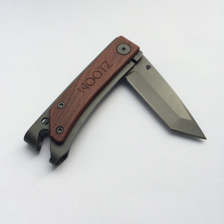 Tanto / Liner-lock / Gunmetal Gray / Hardwood