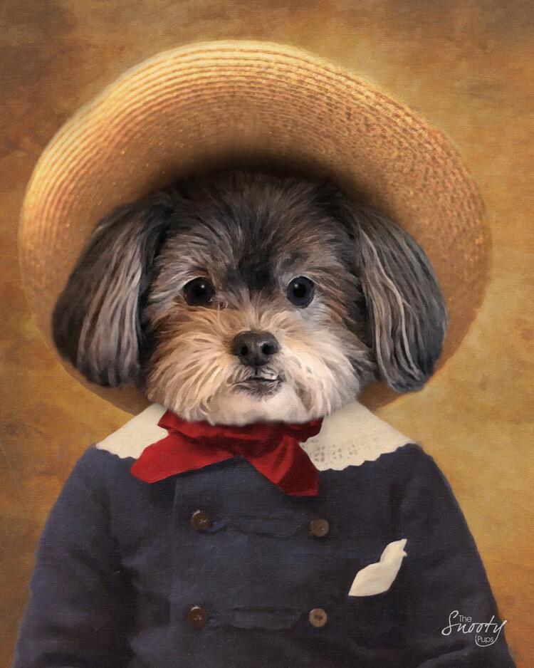 Custom Dog Portrait From Photo - Peasant