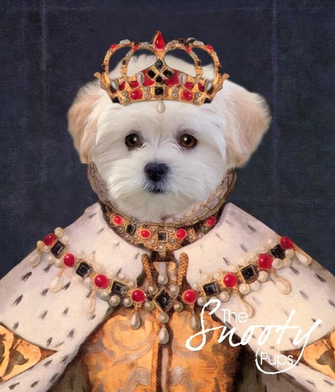Custom Dog Portrait - Queen