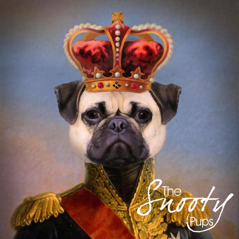 Premade Pug Print, Dog Portrait 00008