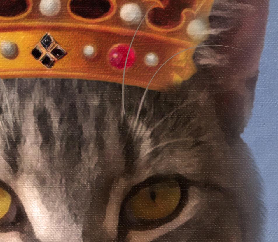 King Cat Portrait- Texture