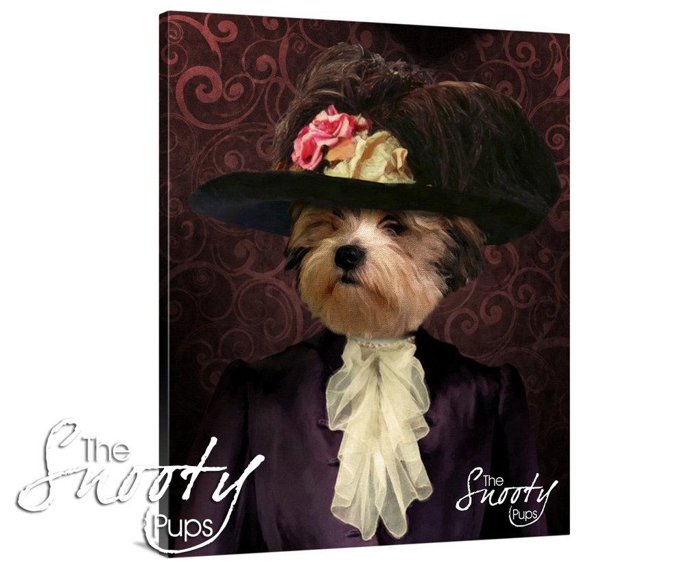 Victorian Lady Custom dog Portrait