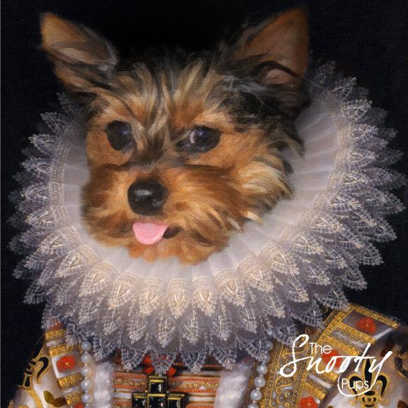 Queen Nola Custom Dog Portrait 00073