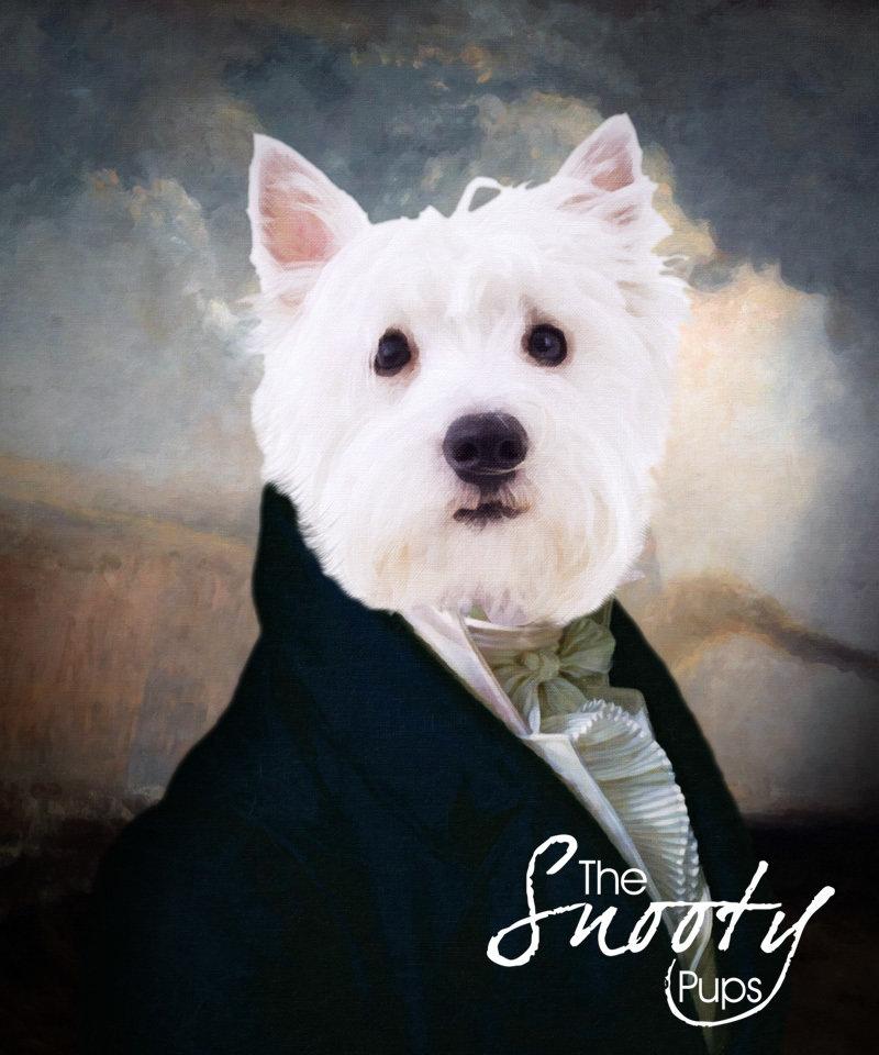 Gentleman Custom Dog Portrait 00075