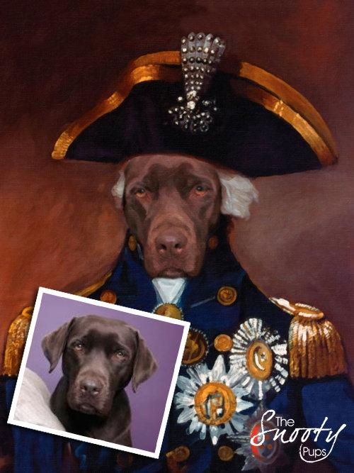 Sargent Custom Dog Portrait 00080