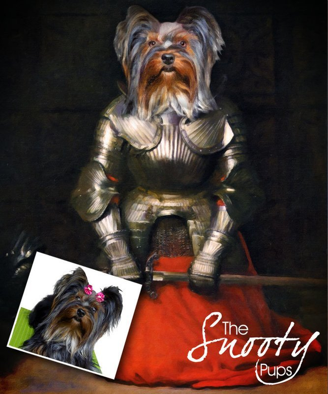 Joan of Arc Custom Dog Portrait