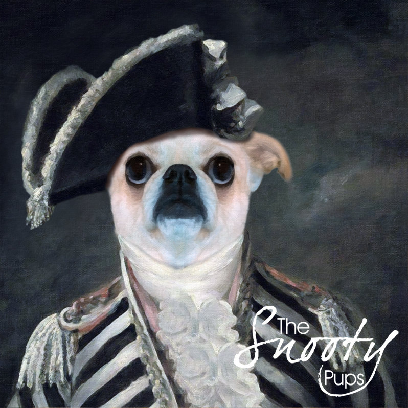 Custom Dog Portrait - Vintage