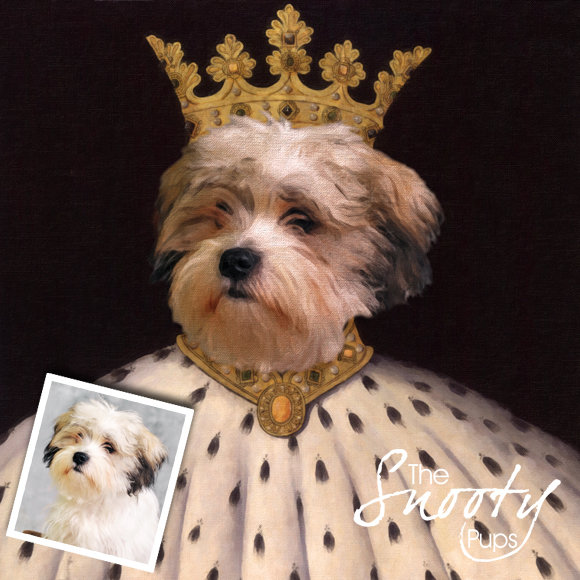 King Custom Dog Portrait 00089