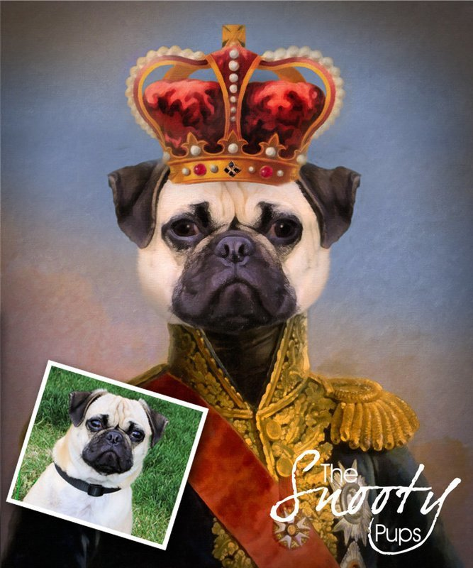 Custom Dog Portrait - King II