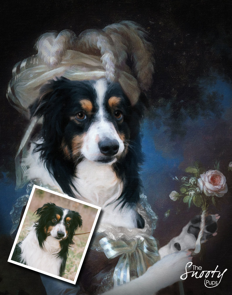 Marie Antoinette Custom Dog Portrait 00093