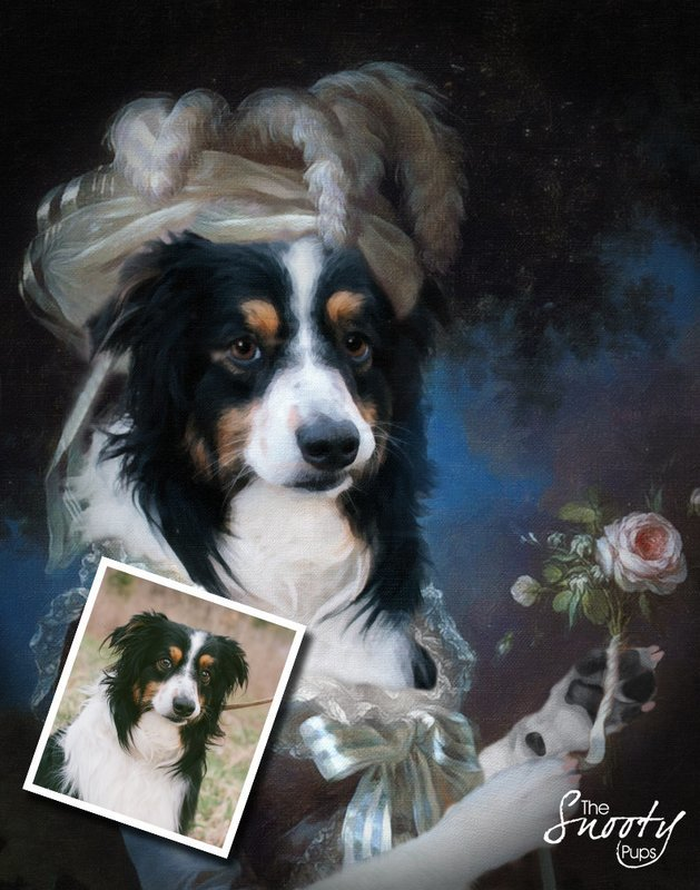 Custom Dog Portrait - Marie Antoinette