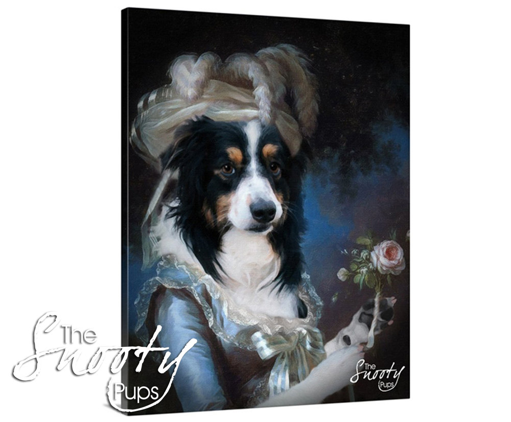 Marie Antoinette Custom Dog Portrait