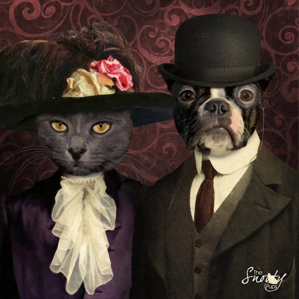 Vintage Custom Pet Portrait 00099