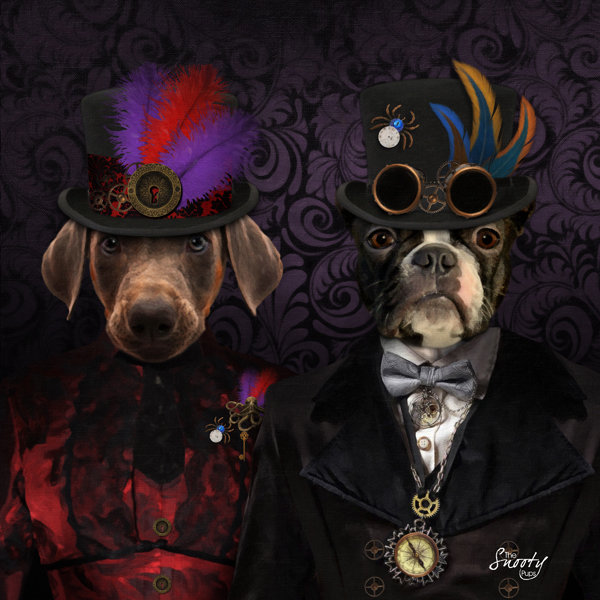 Steampunk Couple Custom Pet Portrait 00102