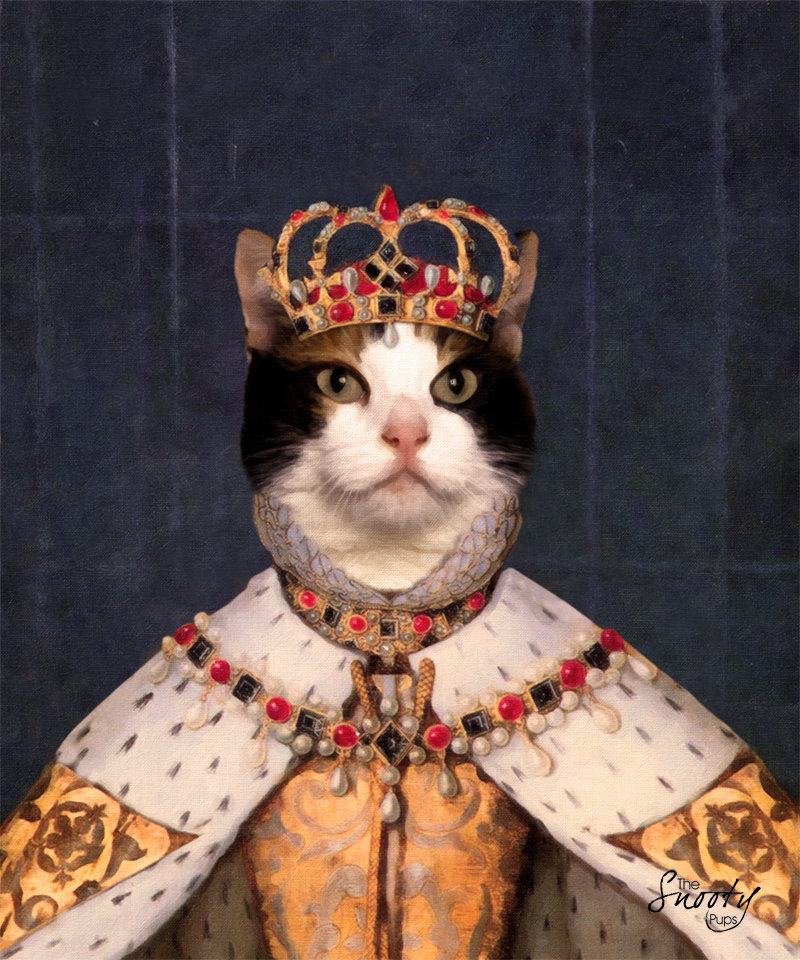 Queen Custom Cat Portrait 00106