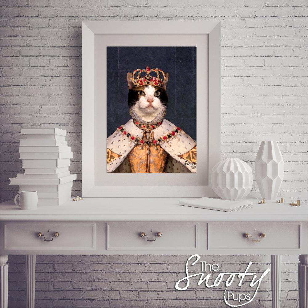 Queen Custom Cat Portrait