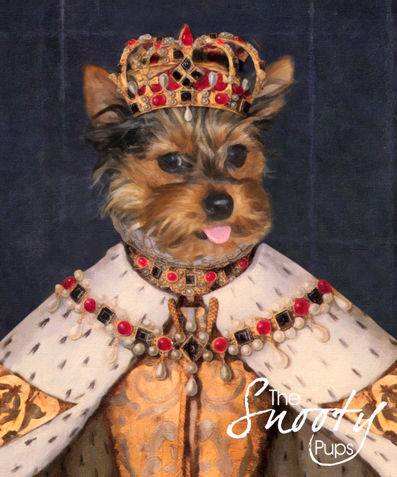 Queen Custom Dog Portrait 00107
