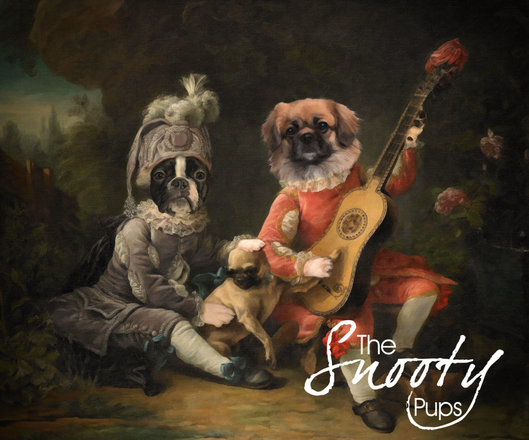 Renaissance Couple Custom Pet Portrait 00103