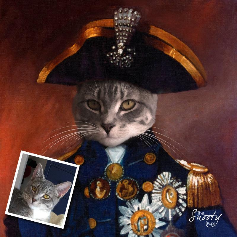 Custom Cat Portrait - Sargent